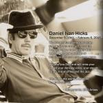 DANIEL IVAN HICKS (DECEMBER 9, 1941 ~ FEBRUARY 6, 2016)