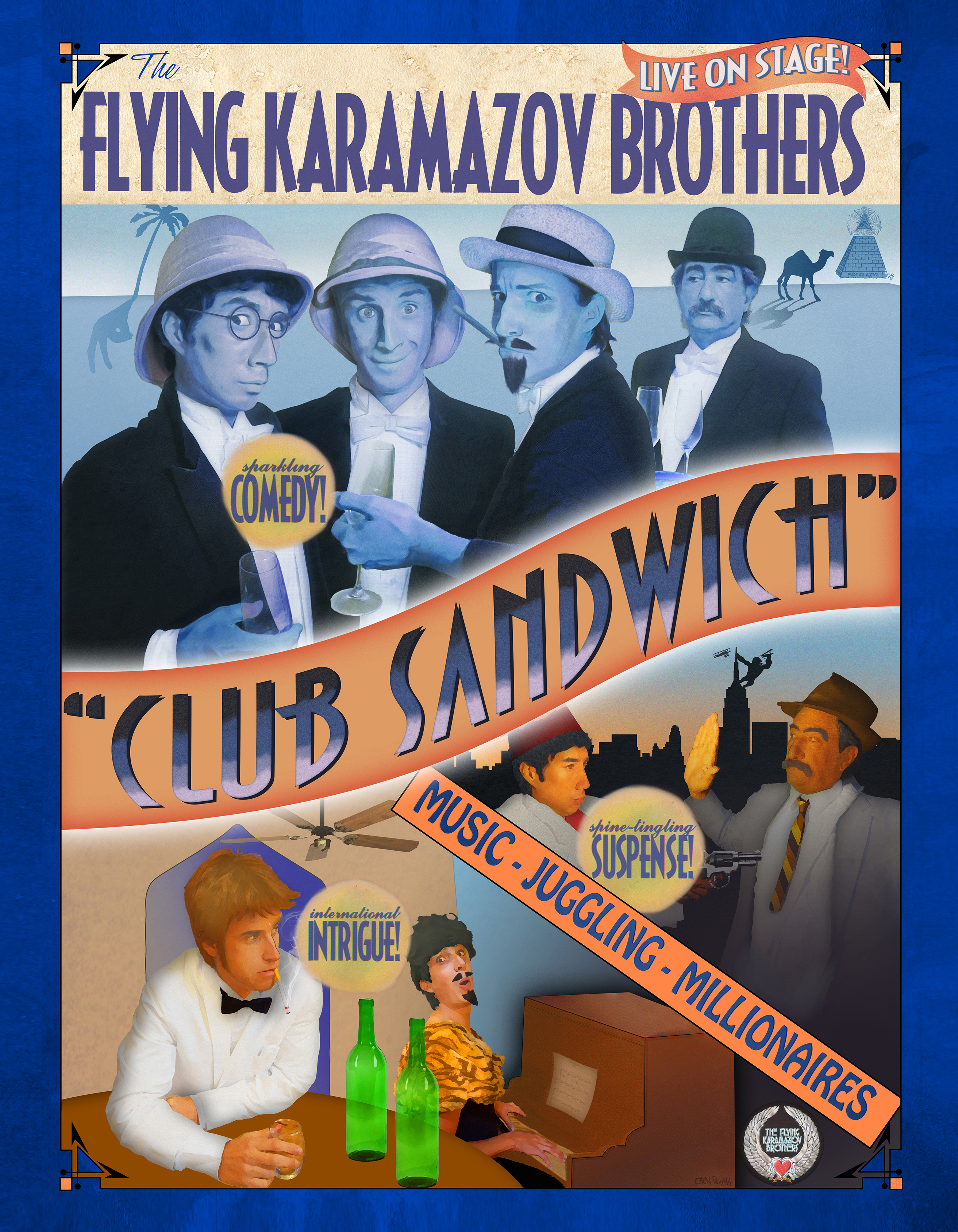 The Flying Karamazov Brothers - Poster - Club Sandwich